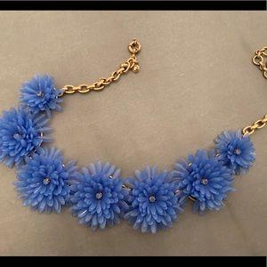 J Crew blue flower necklace